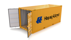 20ft Shipping Container Hapag Lloyd 3D Model