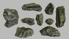 Mossy rocks 3D Model
