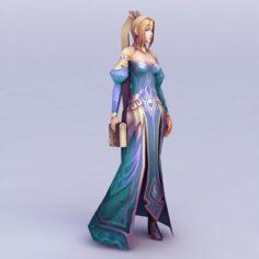 Female witch – w4 3D Model