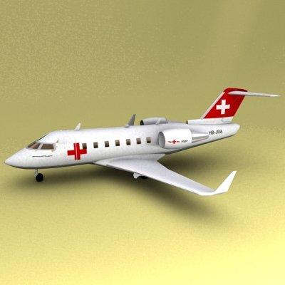 Challenger 604 3D Model