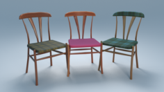 Chair10 for cafe Free 3D Model
