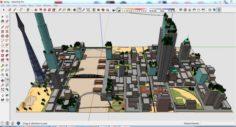 City 3d sketchup – 4 3D Model