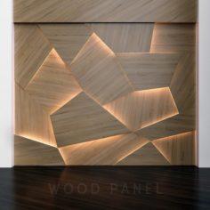 Wooden 3D panels 3D Model