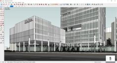 Sketchup Commercial and office complex L4 3D Model