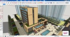 Sketchup office building G5 3D Model