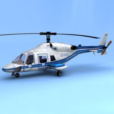 Bell 222 Hummingbird 3D Model