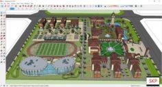 Sketchup school H3 3D Model