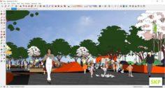 Sketchup Park J1 3D Model