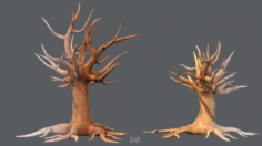 Trees Cartoon V04 3D Model