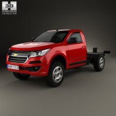 Chevrolet Colorado S-10 Regular Cab Chassis 2016 3D Model