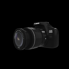 EOS 1300D DOUBLE ZOOM 18MP CAMERA 3D Model