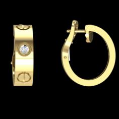 Earrings Cartier 3D Model