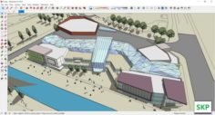 Sketchup Commercial and office complex F5 3D Model