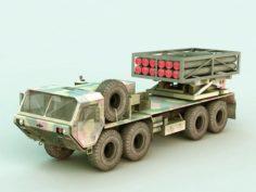 Missile Launcher Truck 3D Model