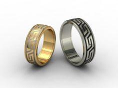 Wedding rings- 3D-N-002 3D Model