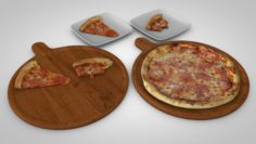 3d Tasty pizza pack 3D Model