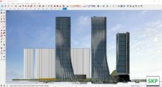 Sketchup Commercial and office complex N2 3D Model