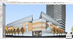 Sketchup office building J8 3D Model
