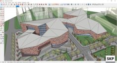 Sketchup Commercial and office complex F4 3D Model