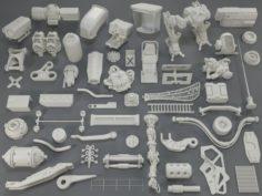 Kit bash55 pieces – collection-11 3D Model