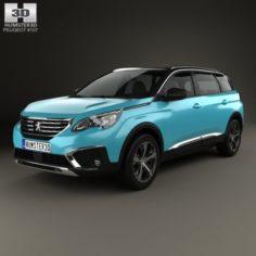 Peugeot 5008 2017 3D Model