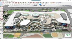 Sketchup Commercial and office complex C5 3D Model