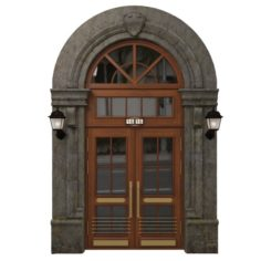 Entrance classic door 08 3D Model