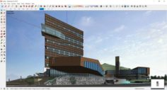 Sketchup Commercial and office complex L6 3D Model