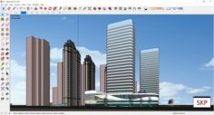 Sketchup Commercial and office complex K5 3D Model