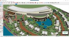 Sketchup Recreational complex B7 3D Model