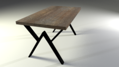 Low Poly Loft Table 3D Model