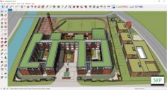 Sketchup school G9 3D Model