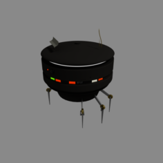 Sci-Fi Hover Droid Free 3D Model