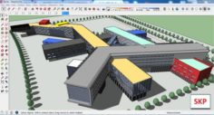 Sketchup office building G2 3D Model