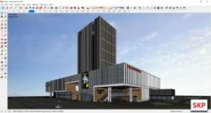Sketchup Commercial and office complex N4 3D Model