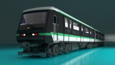 Paris Subway Train 3D Model