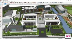 Sketchup College building B8 3D Model