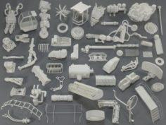 Kit bash54 pieces – collection-16 3D Model