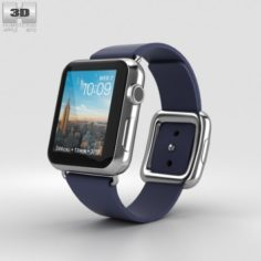 Apple Watch Series 2 38mm Stainless Steel Case Midnight Blue Modern Buckle 3D Model