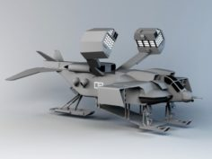 High detailed of science fiction dropship 3D Model