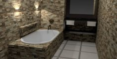 8×12 Bathroom 3D Model