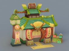 Cartoon Chinese Store 3D Model