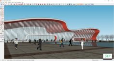 Sketchup Railway station B2 3D Model