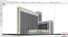 Sketchup office building J10 3D Model