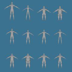 12 male mesh 3D Model