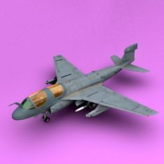 EA-6b Low Visible 3D Model