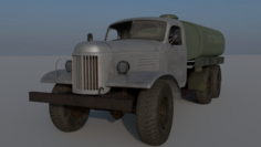 ZIL 157 Fuel Truck Free 3D Model