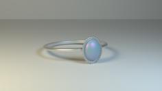 Opal Ring 3D Model