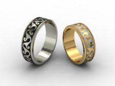 Wedding rings 3D-N – 007 3D Model