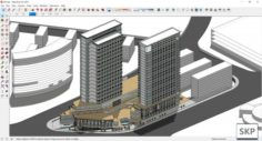 Sketchup Commercial and office complex M4 3D Model